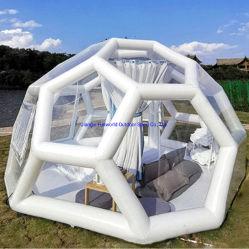 팽창식 거품 캠핑 텐트 10ft 상업 등급 실외 투명 돔 야외 DIY를 위한 공기 송풍기 포함 캠핑 캐빈 버블 텐트 가족 뒷뜰에서 캠핑하는 스타가