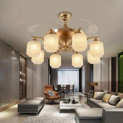 Crystal LED-Ventilator Deckenleuchte LED dimmableceiling Licht für Wohnzimmer, Setting Room