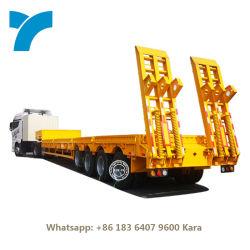 3 차축 로베드 80t 100 120 150톤 전방 적재 40ft 13m 16M 컨테이너 로우 70 톤 4 차축 로우 침대 로보이 세미 트레일러