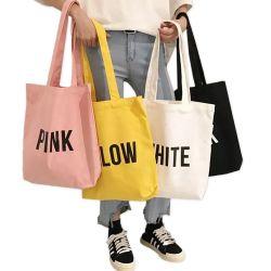 Hot Sale Fashion Design Promotional Gift Handbag Natural Cotton Heavy Duty Canvas Tote Women Winkeltas