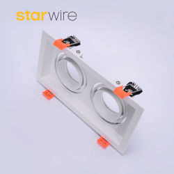 تركيبات إضاءة LED ذات رأس مزدوج بيضاء تركيبات خفيفة