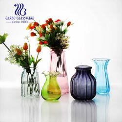 El cristal transparente de alta calidad para la Flor florero decorativo color rociado con cristal de la boda al por mayor de florero Presup.