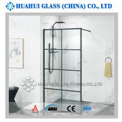 O alumínio entrar box de vidro do painel de porta com vidro temperado 10mm para banheiro