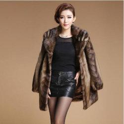 Estilo de Europa de la Mujer Plus Size ropa ropa de imitación piel de visón Top Larga Marten abrigo abrigo de pieles de cuero