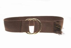 La moda dos doble tejido de malla de hebilla de cinturón