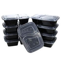 500ml 650ml 750mlの使い捨て可能な台所用品のふたが付いているテークアウトのマイクロウェーブPPプラスチック食糧容器