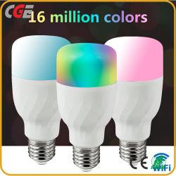 2700K-6500K RGB 변하기 쉬워 지능적인 전구 7W 9W를 바꾸는 색깔을 흐리게 하는 WiFi 지능적인 A60 LED 전구