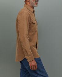 Commerce de gros 100% flanelle de coton les chemises pour hommes chemises à manches longues