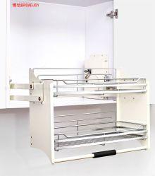 Kitchen Cabinet tire hacia arriba y abajo utensilio de Cesta de alambre de almacenamiento en el armario rack