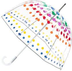 Точек подпись прозрачный купол вручную открытьодин размерPoe зонтик