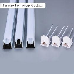 T5 интегрированный компонент фонаря освещения трубы корпуса 0,4 мм толщина алюминиевого приспособление молочный оттенок или прозрачной очистить крышку ПК диффузии с торцевой крышки для светодиодного освещения