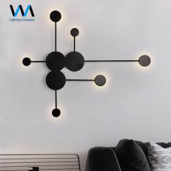 6 cabezales de Arte Moderno de la pared de hierro lámpara para Salón