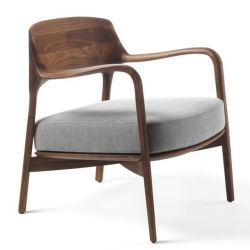 Legno solido semplicemente della cenere moderna con la mobilia della presidenza di svago del tessuto per il salone