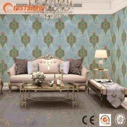 PVC の古典的な花および贅沢な壁のペーパー優雅な装飾的な壁紙