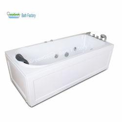 소용돌이 120X70 마이크로 거품 Jacuzzi 직사각형 아크릴 목욕