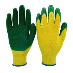 Haltbare Baumwolllatex-Windung beschichtete die Sicherheit, die Schutzhandschuh-Arbeits-Arbeits-Handschuh bearbeitet