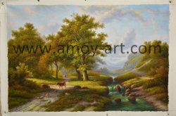 ホーム装飾のための古典的な景色のキャンバスの壁の芸術の油絵