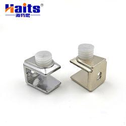 Pasadores de soporte de plataforma de aleación de zinc de herrajes para muebles de cierre de vidrio