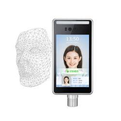 8 pouces écran tactile d'affichage IPS dynamique de la sécurité de reconnaissance de visage infrarouge la reconnaissance de visage de fréquentation de temps système d'accès porte
