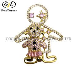 質の高い新しい設計方法宝石類の女性のための銀製のブローチ
