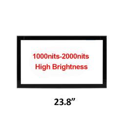 23,8 polegadas 1000nits de brilho elevado 2000nits Capasitive Estrutura Aberta painel táctil LCD integrada com Monitor de tela sensível ao toque do visor legível de utilização de publicidade exterior