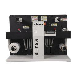 Rolle zu Rolle Drehstempelschneidmaschine Vr240 Digital Label Stanzwerkzeug zum Verkauf
