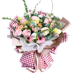 Dubbelzijdig Flower Wrapping Paper Waterproof Plastic Decorative Packaging Material