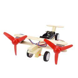 Elektrische doppelte vorbildliche Installationssatz-Spielwaren des Propeller-Segelflugzeug-DIY für Jungen-Wissenschafts-Kind-kreatives Physik-Spielzeug-handgemachtes hölzernes Plastikmodell
