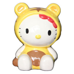Hand painted Ceramic Ciao Kitty Bank Piggy Bank per ragazze, ragazzi, Mini-Piggy Coin Bank Frist Saving Box per bambini