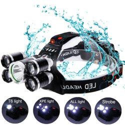 센서 Headlamp 5 LED Headlamp 재충전용 방수 플래쉬 등 헤드 빛