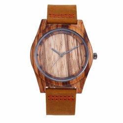 방수 얼룩말 목제 단 하나 예 디지털 안쪽 그림자 브라운 결박 남자의 시계