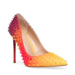 الموضة نقّال الملابس التّغيير التدريجيّ اللون النّضوي النّضيقّ النّساء الضيقة العليا أحذية الزفاف