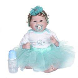 55cm Prinzessin schöne lebensechte weich Body100% Handmade detaillierte Gemälde Sammlerstücke Art Doll Reborn Baby