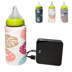 Beweglicher Milchflasche-Wärmer für Babys USB-die aufladenheizungs-Thermo Beutel-Unterhalt-Baby-Milch oder Wasser warm