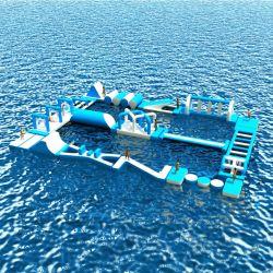 Parco acquatico galleggiante gonfiabile Sea Water Park gonfiabile Parco acquatico commerciale Parco divertimenti gonfiabile Aqua
