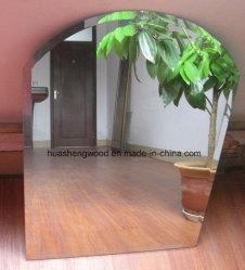 正方形の円形の銀製の浴室ミラー