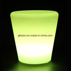 LED RVB de pots de fleur unique pour les jeux de bar en plein air