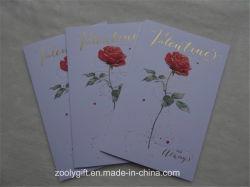 Feuille d'or en relief l'art des cartes de voeux avec enveloppe de papier