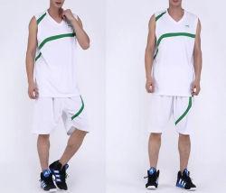 Het embleem Afgedrukte Eenvormige Basketbal van de Polyester van de Slijtage van Sporten
