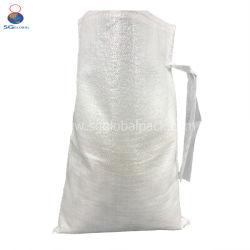 La Chine Le commerce de gros traitement UV Heavy Duty 14*26 petites tube vide tissé en PP blanc Sac de sable avec des attaches