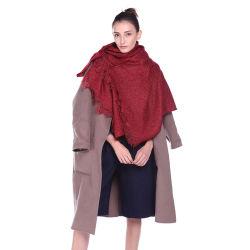 형식 여자의 뜨개질을 한 스카프 숄