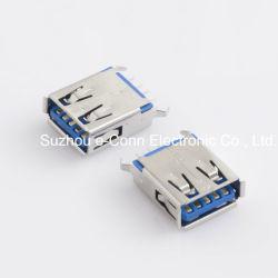 Blindado USB Receptáculo/S através do furo