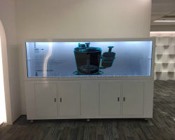 Dedi LG Samsung 3D Affichage LCD transparent joueur du Cabinet de la publicité