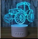 3D de l'audio Bluetooth lampe LED (coloré)