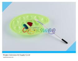 23*17cm palette d'Arte colorata per bambini e studenti (pesce, 10 pozzetti)