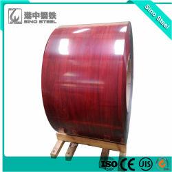 Gedruckt PPGI Perpainted Verzinkte Stahlspule Farbe Stahlspule Preis