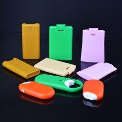 Las botellas de perfume de la tarjeta de crédito planas cuadradas vendedoras calientes de los PP, 20ml vacian la botella plástica del aerosol de perfume