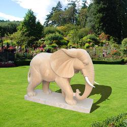 Elefant-Skulptur-Marmor für Garten-Dekoration