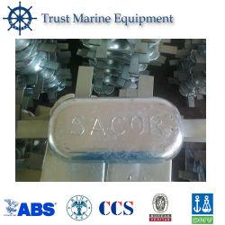 Nós Especificação MIL GB/ASTM/Dnv anodo sacrifical de liga de zinco
