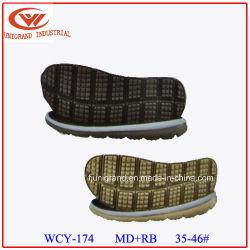 MD serie popular material de caucho sandalias de lenguado con zapatillas